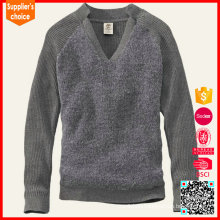 2017 Fashion merino heavy wool pullover men's hooded sweater