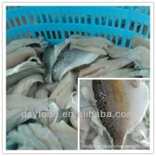 Fábrica de fujian de filé de marisco congelado / filete de bass do mar