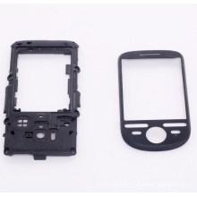 Black plastic mobile phone accessory