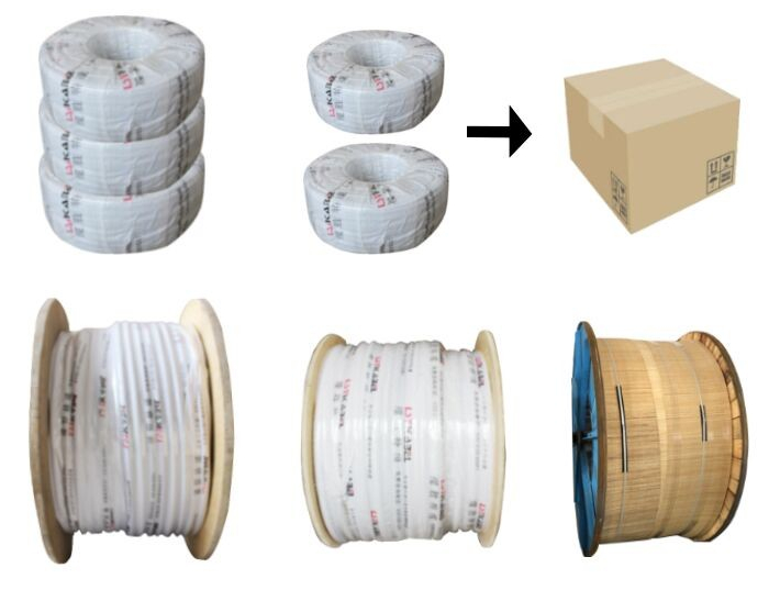 Flat crane cable reels for gantry overhead crane