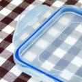 Caja de almuerzo de plástico con 4 compartimentos y capa aislante 1200ml