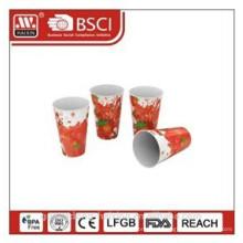 Popular em moldes plásticos de rotulagem do copo com completa impressão 12oz/0,34 L