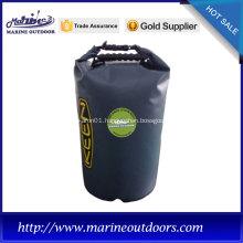 500D black polyester waterproof dry bag for diving, waterproof nylon dry bag