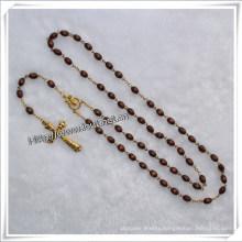 Handmade Wooden Beads Rosary for Praying (IO-cr021)