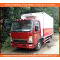 5tons Sinotruk refrigerou o caminhão de Van no caminhão do refrigerador da entrega da carne