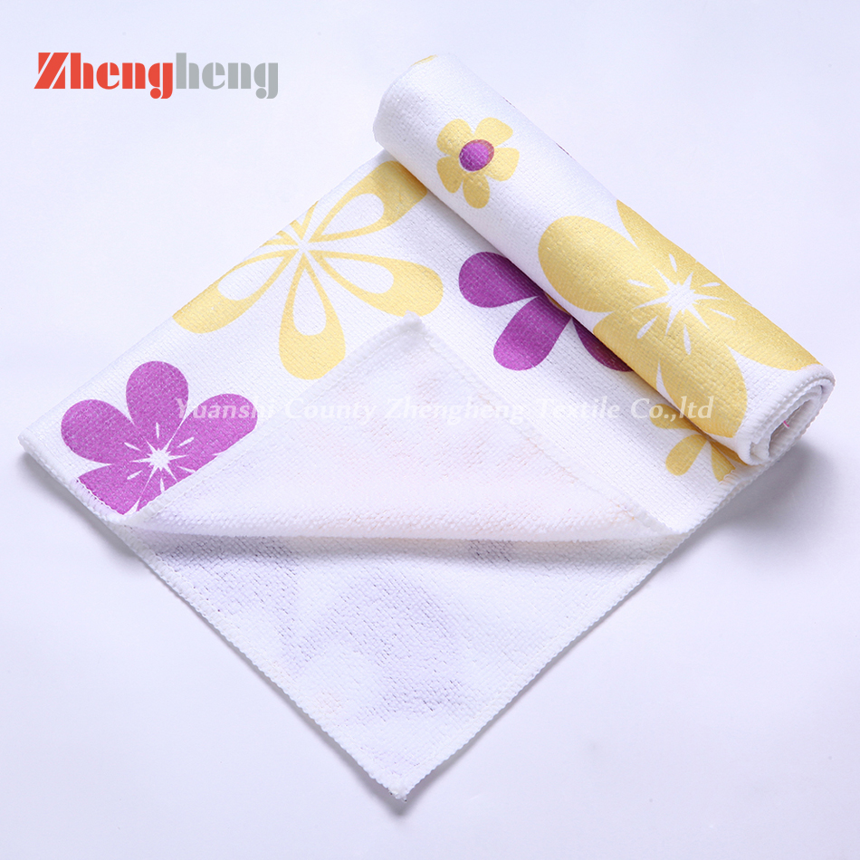 100% Polyester Material Printed Warp Knitted Towel