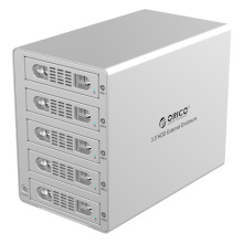ORICO de aluminio de 3,5 pulgadas SATA USB3.0 y eSATA externa Multi Bay HDD recinto en el escritorio (3559SUSJ3)