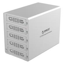 ORICO Aluminum 3.5 inch SATA USB3.0 & eSATA External Multi Bay HDD Enclosure on the Desktop (3559SUSJ3)