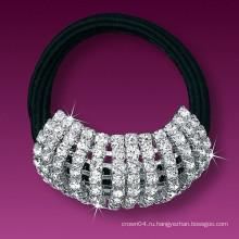 Мода металлический посеребренный кристалл спортивный диапазон волос