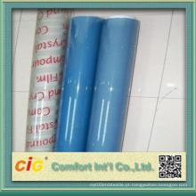 Transparente PVC suave filme azul para fios e cabos
