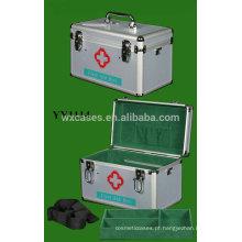 Nova caixa de primeiros socorros portátil de alumínio com alça de ombro