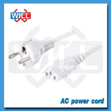 VDE CE 250V 10A 16A 3pin White European AC power cord