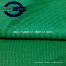Tissu piqué 100% polyester pour T-shirts et vêtements de sport