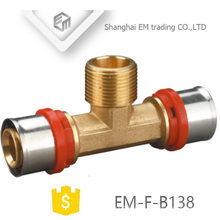 EM-F-B138 Außengewinde Inox-Pressfitting Aluminium-Kunststoff-T-Rohrverschraubung