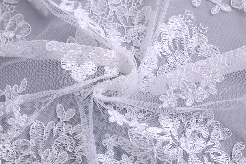 Bridal Wedding Dress Embroidery Fabric