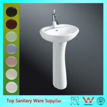 Chaozhou sanitaire ware céramique lavabo avec support