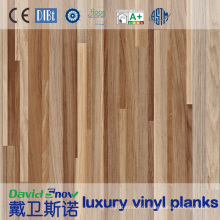 Plancher de vinyle de PVC de grain en bois pour le bureau / centre commercial