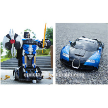 Toy robot track transform robot toy remote control car
