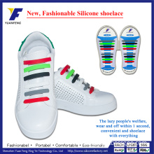 High Quality No Tie Shoe Laces Silicone Lazy Shoe Laces for Christmas Gift