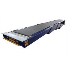Transportador de banda telescópico logístico
