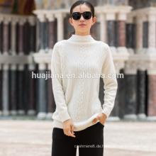 100% Kaschmir Frauen weißen Pullover