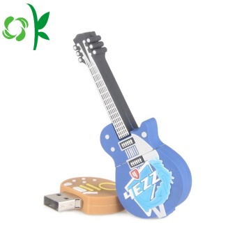 3D Guitar Custom Silicone USB Flash Drive Cover