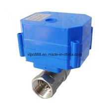 Vanne motorisée de contrôle de boule de Cwx-60p Dn32 DC12V / 24V acier inoxydable 316 304