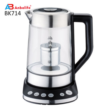 Hot Household Kitchen Electrical Appliances 1.8L Cordless 360 Degree Water Tea Glass Electric Kettle