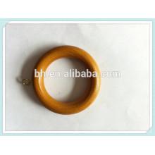 Atacado de madeira cortina anéis, cortina O anel, anel de madeira de bronze bonito