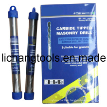 Carbide Tipped Masonry Drill Bit with Plastic Tube and Colour Box