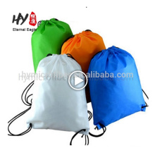 Brand new non nowen backpack supermarket shopping bag with drawstring