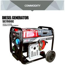 7KW CE certificado portátil Baja ruido diesel generador de energía 5kw generador diesel precio