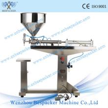 Máquina de enchimento manual semi-automática da garrafa pneumática do aço inoxidável