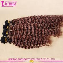 Fabrik Preis höchster Qualität heißen Verkauf 100 % natives eurasischen tiefe Welle Haar blond Remy Ombre Schuss