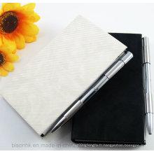 Support de pochette en métal, porte-notes avec stylo, support de tampon Memo