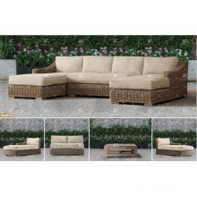 ALAND COLLECTION - New design PE wicker synthetic rattan garden furniture sofa set