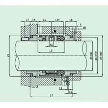 Standard Mechanical Seal for Pumpe (HUU803)