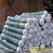 Valla de enlace de cadena revestida de PVC