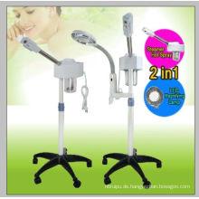 2in1 Aromatherapie Gesichtsdampfer Rolling Base und 5 Dioptrien LED Lupenleuchte