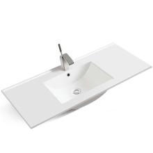 Rectangular Cheap Washroom Thin Edge Cabinet Wash Hand Basin Vanity Sink