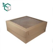 Papierverpackungs-Kasten für Kuchen-Kasten mit klarem PET-Fenster