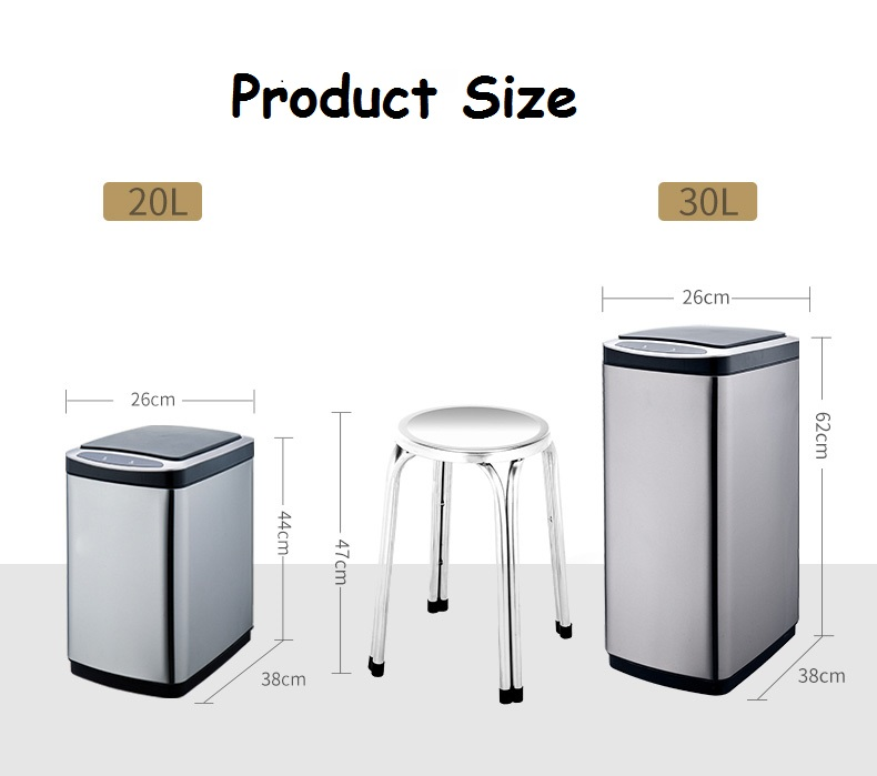 20L/30L induction dustbin with removeable lid