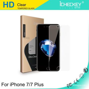 Shenzhen Icheckey moderó el protector de cristal moderado 9H de cristal de la pantalla para iPhone7