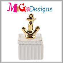 New Arrival Anchor Ceramic Jewelry Box for Decoration