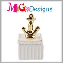 Caixa de jóia cerâmica da âncora nova da chegada para a decoração