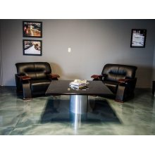 Living Room Metallic Epoxy Floor Coating