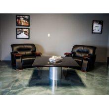Revestimiento de piso epoxi metálico para sala de estar