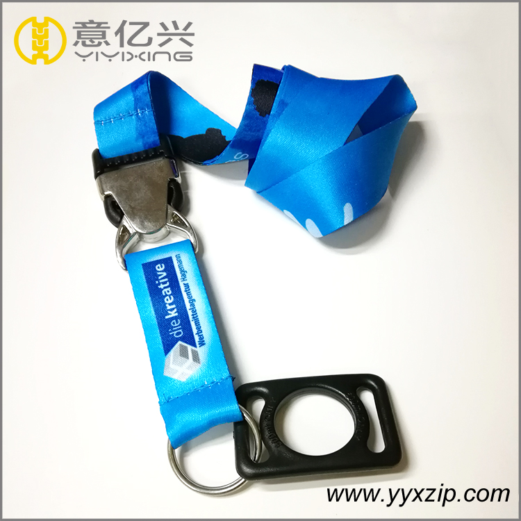 Water bottle holder neck lanyard