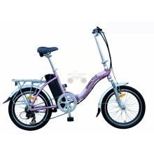 20 Inch Pink Alloy Frame Folding E Bicycle