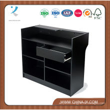 Black Ledge Top Register Stand with Drawer